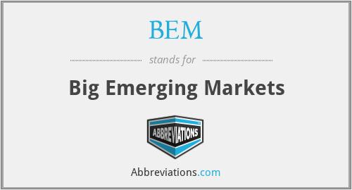 BEM - Big Emerging Markets