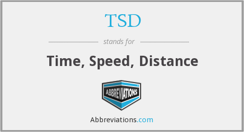 TSD - Time, Speed, Distance