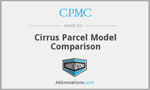 CPMC - Cirrus Parcel Model Comparison