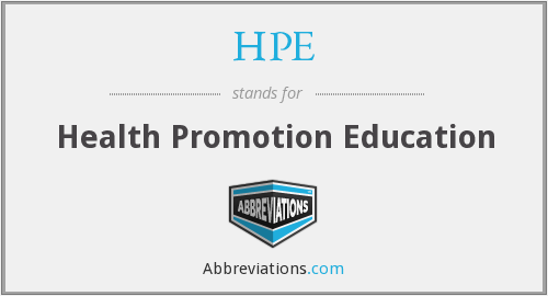 HPE - Health Promotion Education