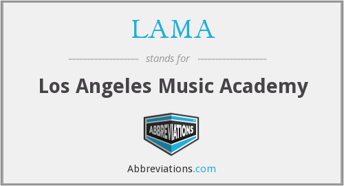 LAMA - Los Angeles Music Academy
