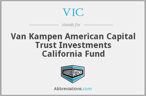 VIC - Van Kampen American Capital Trust Investments California Fund