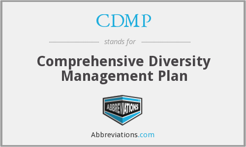 CDMP - Comprehensive Diversity Management Plan