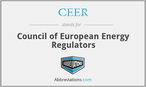 CEER - Council of European Energy Regulators