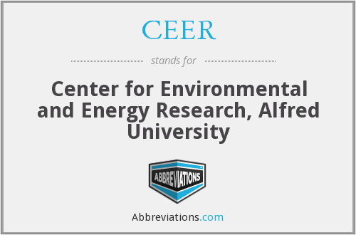 CEER - Center for Environmental and Energy Research, Alfred University