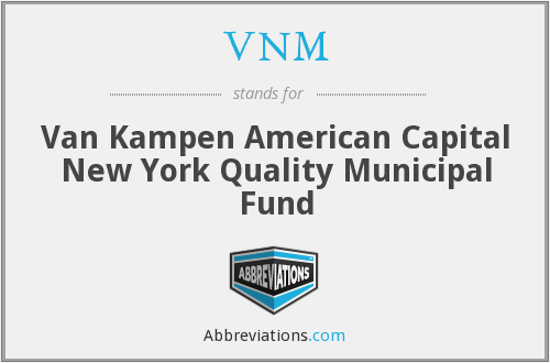 VNM - Van Kampen American Capital New York Quality Municipal Fund