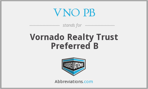 What does VNO PB stand for?