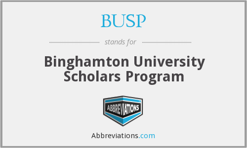 BUSP - Binghamton University Scholars Program