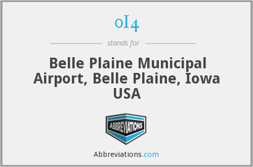 0I4 - Belle Plaine Municipal Airport, Belle Plaine, Iowa USA