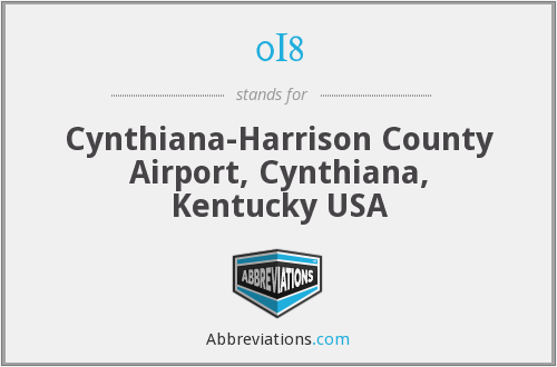 0I8 - Cynthiana-Harrison County Airport, Cynthiana, Kentucky USA