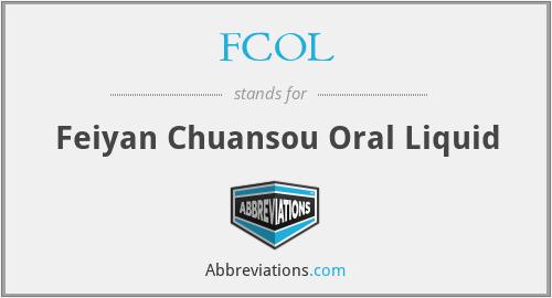 FCOL - Feiyan Chuansou Oral Liquid