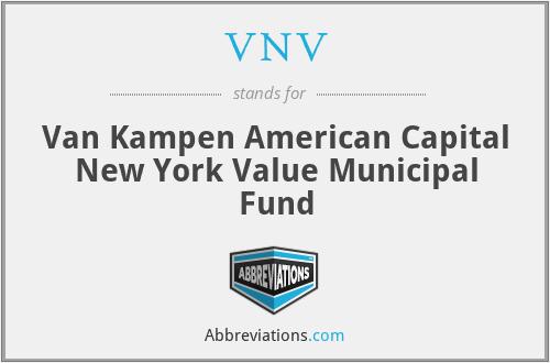 VNV - Van Kampen American Capital New York Value Municipal Fund