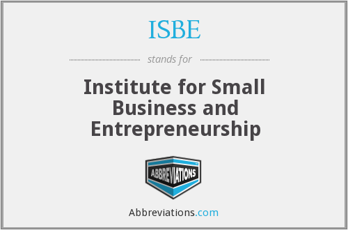 ISBE - Institute for Small Business and Entrepreneurship