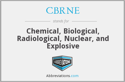 CBRNE - Chemical, Biological, Radiological, Nuclear, and Explosive