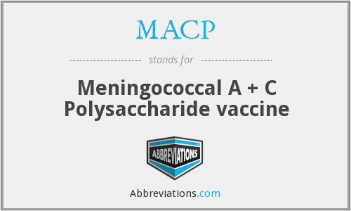 MACP - Meningococcal A + C Polysaccharide vaccine