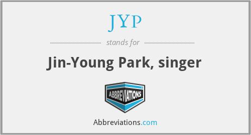 JYP - Jin-Young Park, singer