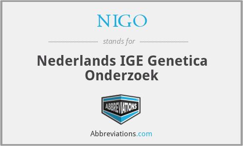 NIGO - Nederlands IGE Genetica Onderzoek