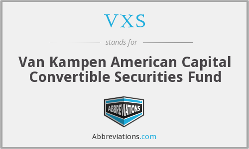 VXS - Van Kampen American Capital Convertible Securities Fund