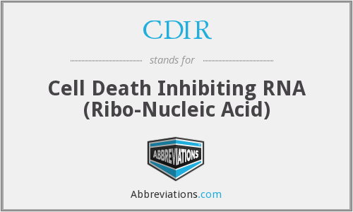 CDIR - Cell Death Inhibiting RNA (Ribo-Nucleic Acid)