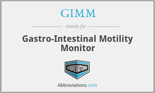 GIMM - Gastro-Intestinal Motility Monitor