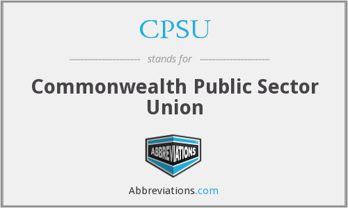 CPSU - Commonwealth Public Sector Union