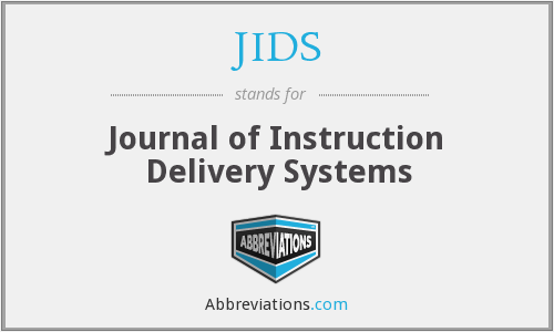 JIDS - Journal of Instruction Delivery Systems