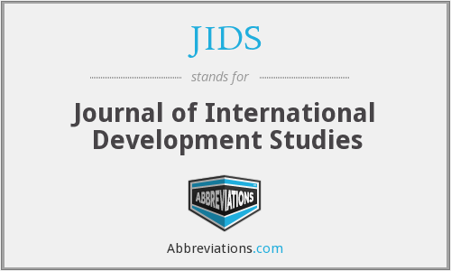 JIDS - Journal of International Development Studies