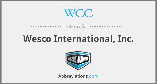 WCC - Wesco International, Inc.