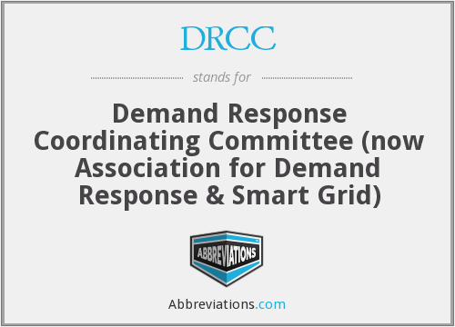DRCC - Demand Response Coordinating Committee (now Association for Demand Response & Smart Grid)