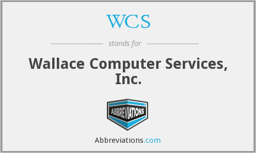WCS - Wallace Computer Services, Inc.