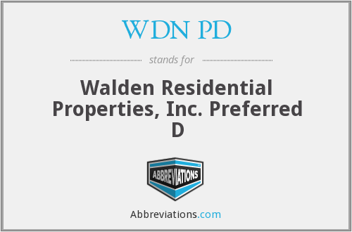 What does WDN PD stand for?