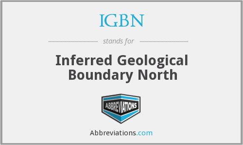 IGBN - Inferred Geological Boundary North