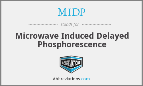 MIDP - Microwave Induced Delayed Phosphorescence
