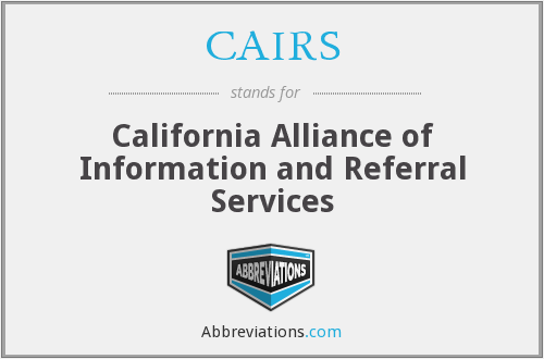 CAIRS - California Alliance of Information and Referral Services
