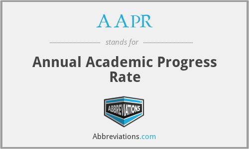 AAPR - Annual Academic Progress Rate