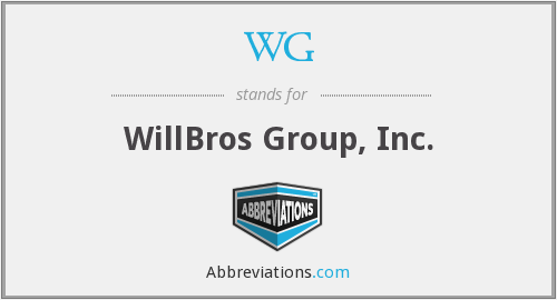 WG - WillBros Group, Inc.