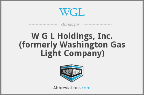 WGL - W G L Holdings, Inc. (formerly Washington Gas Light Company)
