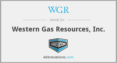 What does WGR stand for?