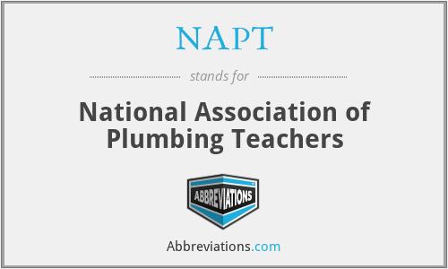 NAPT - National Association of Plumbing Teachers