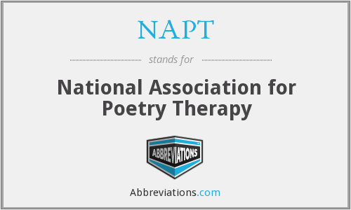 NAPT - National Association for Poetry Therapy