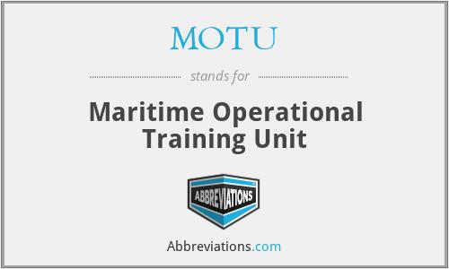 MOTU - Maritime Operational Training Unit