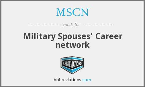 MSCN - Military Spouses' Career network
