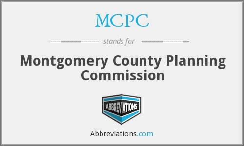 MCPC - Montgomery County Planning Commission