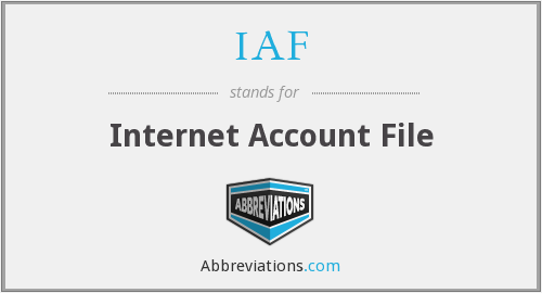 IAF - Internet Account File