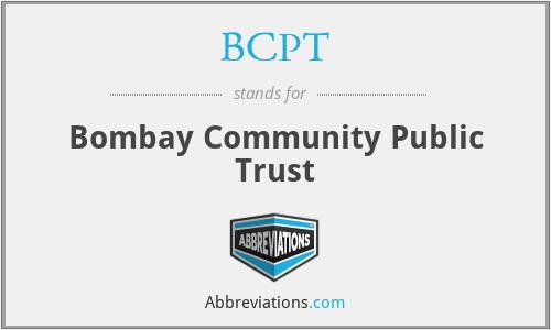 BCPT - Bombay Community Public Trust