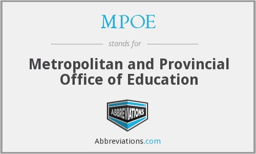 MPOE - Metropolitan and Provincial Office of Education