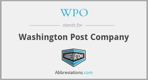 WPO - Washington Post Company
