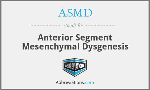 ASMD - Anterior Segment Mesenchymal Dysgenesis