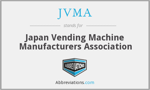 JVMA - Japan Vending Machine Manufacturers Association