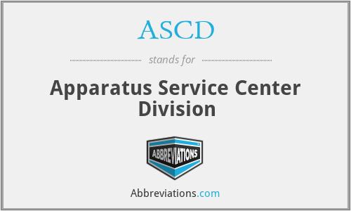 ASCD - Apparatus Service Center Division